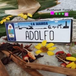 Placa Personalizada Adolfo