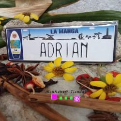 Placa Personalizada Adrian
