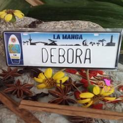 Placa Personalizada Debora