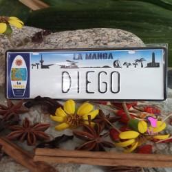 Placa Personalizada Diego