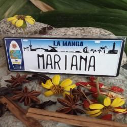 Placa Personalizada Mariana