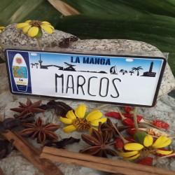 Placa Personalizada Marcos