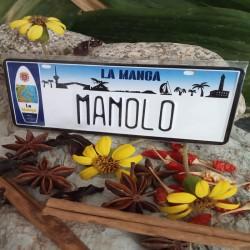 Placa Personalizada Manolo