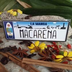 Placa Personalizada Macarena