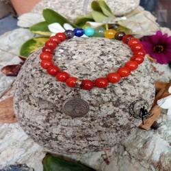 Pulsera Amuleto Coral con 7...